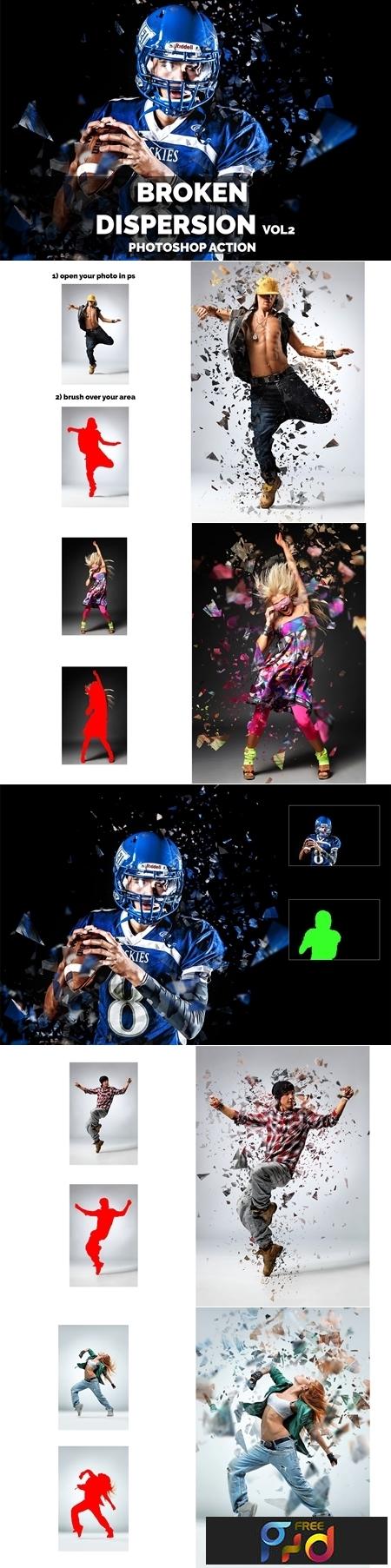 Broken Dispersion VOL2 Photoshop action 3645640 1