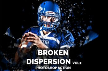Broken Dispersion VOL2 Photoshop action 3645640 3