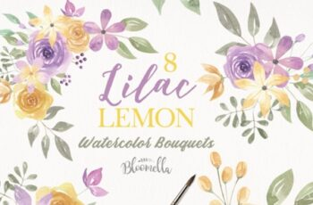 Lilac & Lemon Flower Bouquets 3