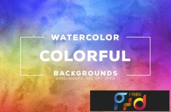 30 Colorful Watercolor Backgrounds 7