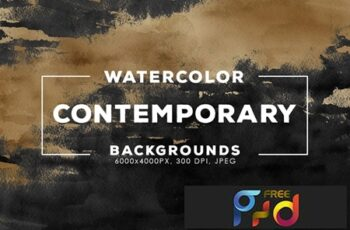30 Contemporary Watercolor Backgrounds 5