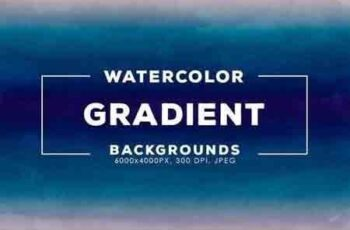 30 Gradient Watercolor Backgrounds 2