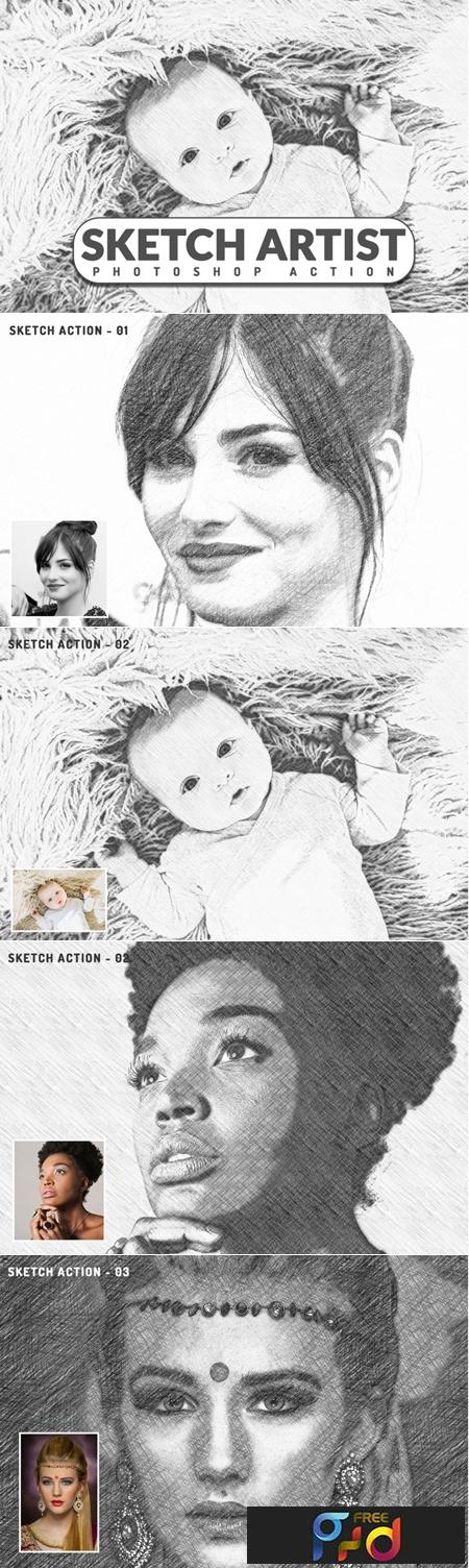 Sketch Artist Photoshop Action 3546288 1