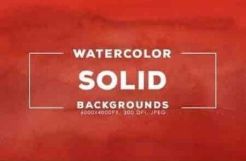 30 Solid Color Watercolor Backgrounds 2