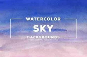 30 Watercolor Sky Gradient Backgrounds 7