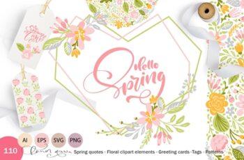 Fresh Feeling Spring Vector Kit SVG 3486200 7
