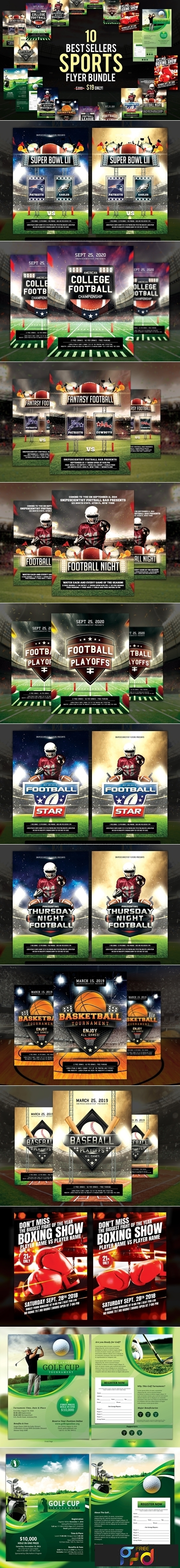 10 Best Sellers Sports Flyer Bundle 3152664 1