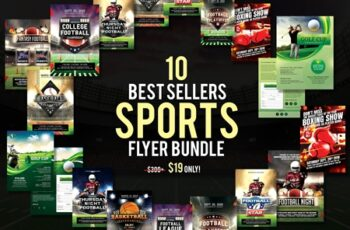 10 Best Sellers Sports Flyer Bundle 3152664 4
