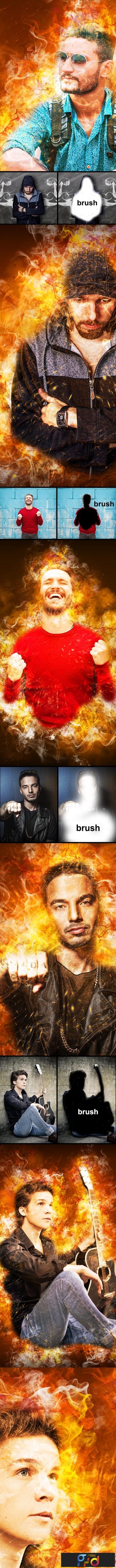 Amazing Flame Photoshop Action 23487754 1