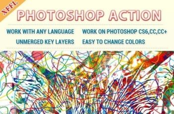 Watercolor Line Photoshop Action 23492662 7
