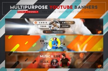 Creative MultiPurpose YouTube Banner 3164427