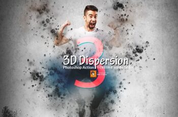 3D Dispersion Photoshop Action 3631399 4