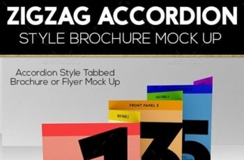 Accordion ZigZag Brochure Mock Up 16165652 3