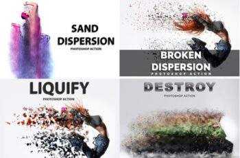 4 in 1 Dispersion Photoshop Actions Pack 3547794 5