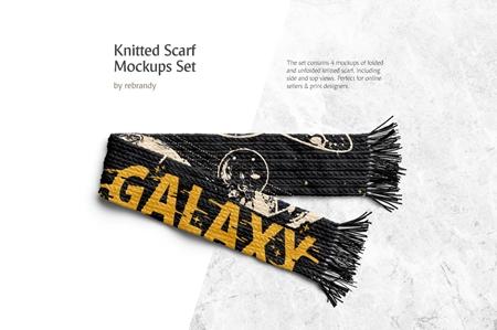 Knitted Scarf Mockups Set 3458102 - FreePSDvn
