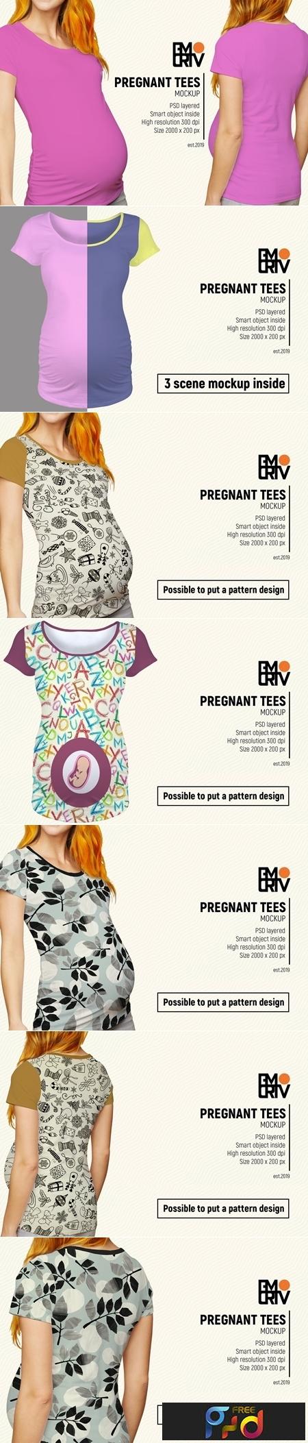 Pregnant Tees Mockup 3476076 1