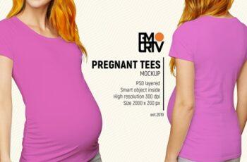 Pregnant Tees Mockup 3476076 3