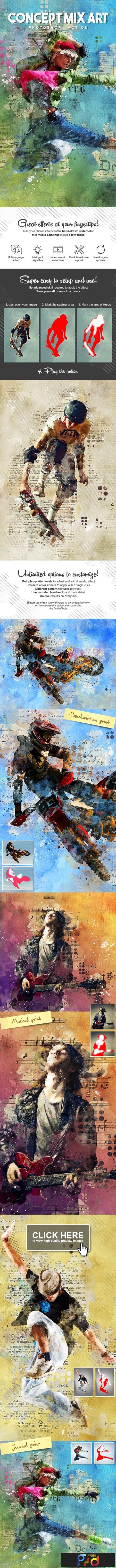 Concept Mix Art Photoshop Action 23490303 1