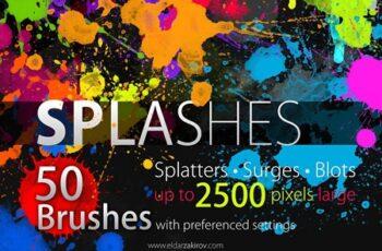 50 HQ SPLASHES Brush Set 1929131 5