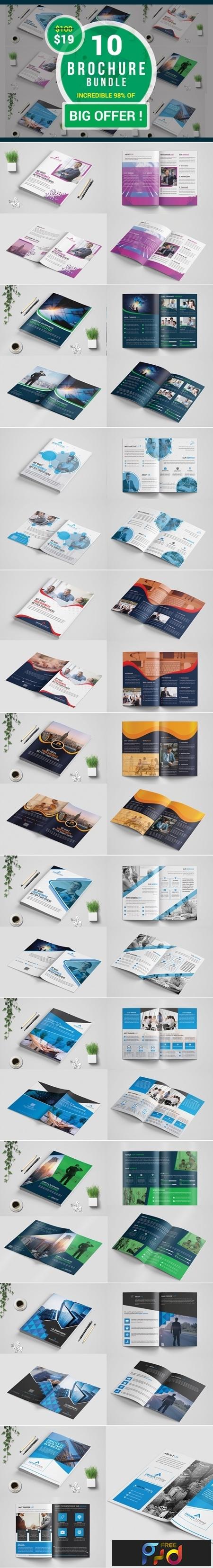 Bi-Fold Business Brochure Bundle template 3529658 1