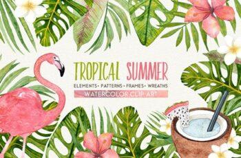 TROPICAL SUMMER watercolor set 1576110 6