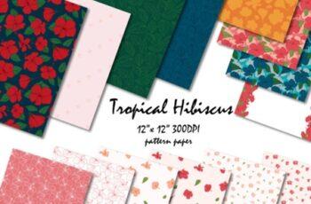 Tropical Hibiscus Digital Pattern 6
