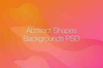 Abstract Shapes Backgrounds PSD 5