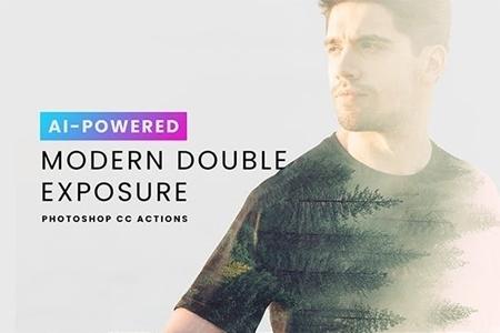 AI Modern Double Exposure Generator 23506383 - FreePSDvn