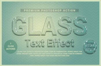 Glass Text Effect Photoshop Action 3644015 3