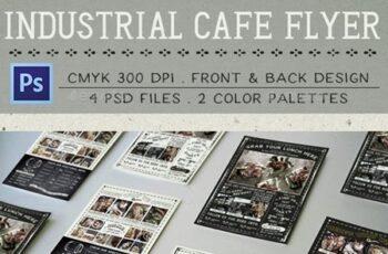 Industrial Cafe Flyer 13557225 3