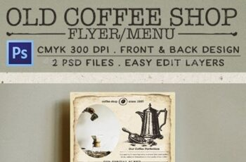 Old Coffee Shop Flyer 13569331 15