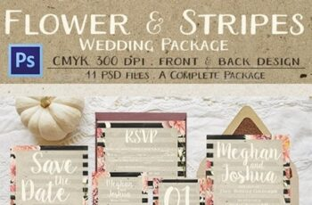 Rustic Flower & Stripes Wedding Package 13641213 2