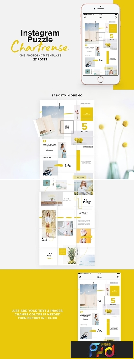 Instagram Puzzle Template Chartreuse 3714643 1