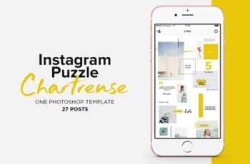 Instagram Puzzle Template Chartreuse 3714643 4