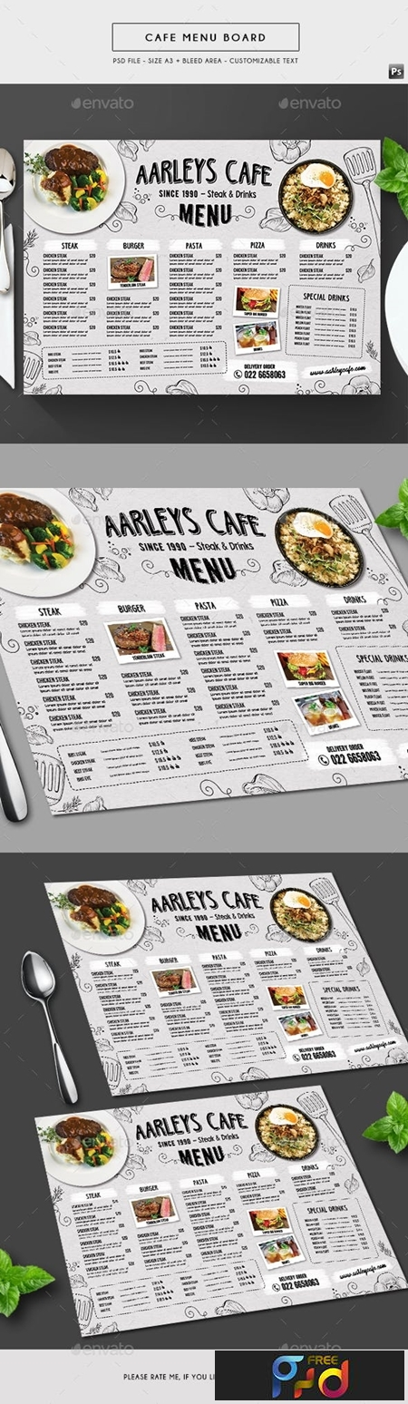 Doodle Cafe Menu Board 19666867 1