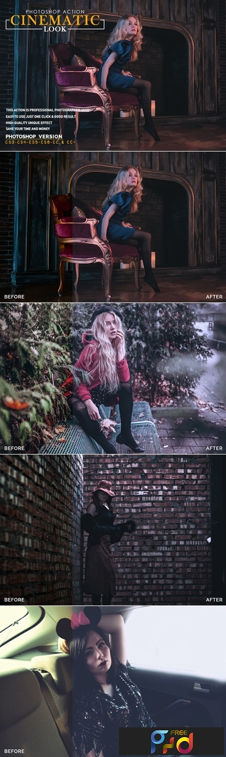 Cinematic Look Photoshop Action 3550094 1