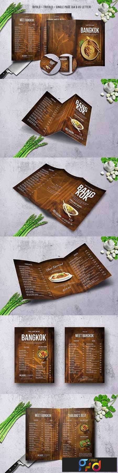 Thai Food Menu Bundle A4 & US Letter 1