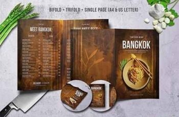 Thai Food Menu Bundle A4 & US Letter 6