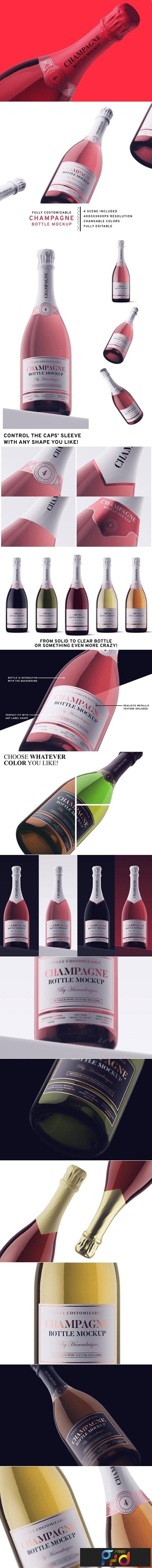 Champagne Bottle Mockup 3715822 1