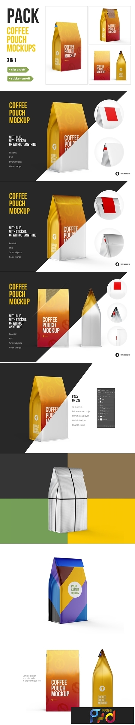 Coffee Pouch Mockup 3 in 1 Pack 3716084 1