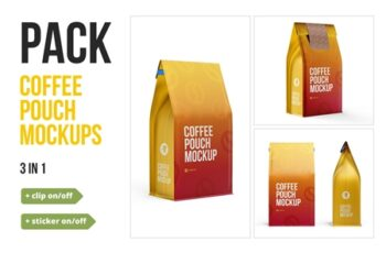 Coffee Pouch Mockup 3 in 1 Pack 3716084 5