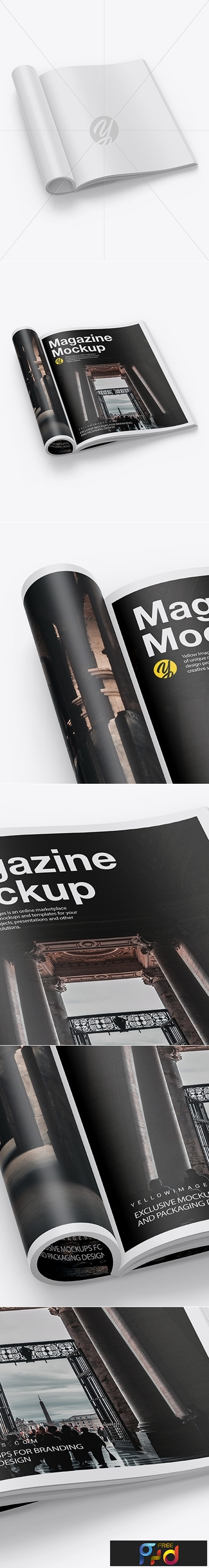 Matte A4 Magazine Mockup 42484 1
