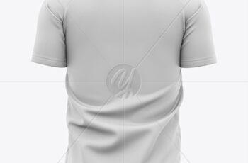 Men's Soccer V-Neck Jersey Mockup - Back View 42653 7