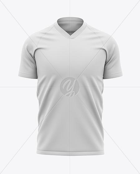 Men U2019s Soccer V-neck Jersey Mockup - Front View 42563