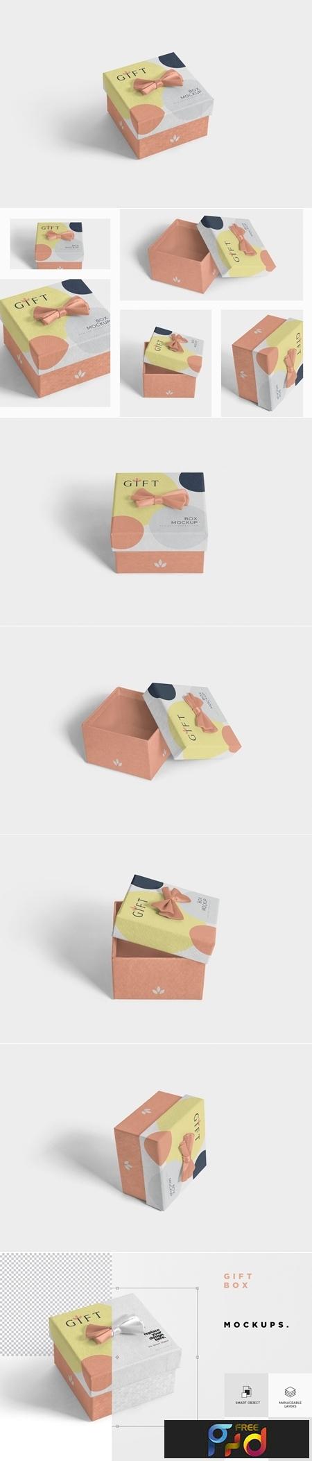 Square Gift Box Mockups 3476232 1
