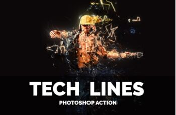 Tech Lines Photoshop Action 3552287 2