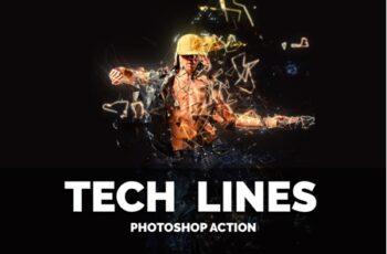 Tech Lines Photoshop Action 3552287