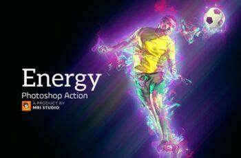 Energy Photoshop Action 3383625