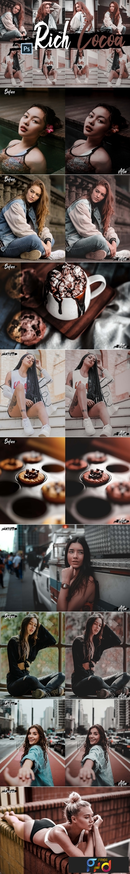 Neo Rich Cocoa Theme Color Grading photoshop actions 244078 1