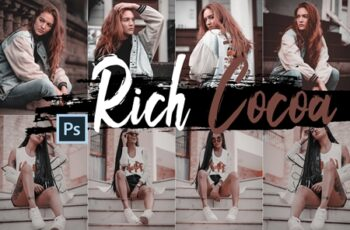 Neo Rich Cocoa Theme Color Grading photoshop actions 244078 9